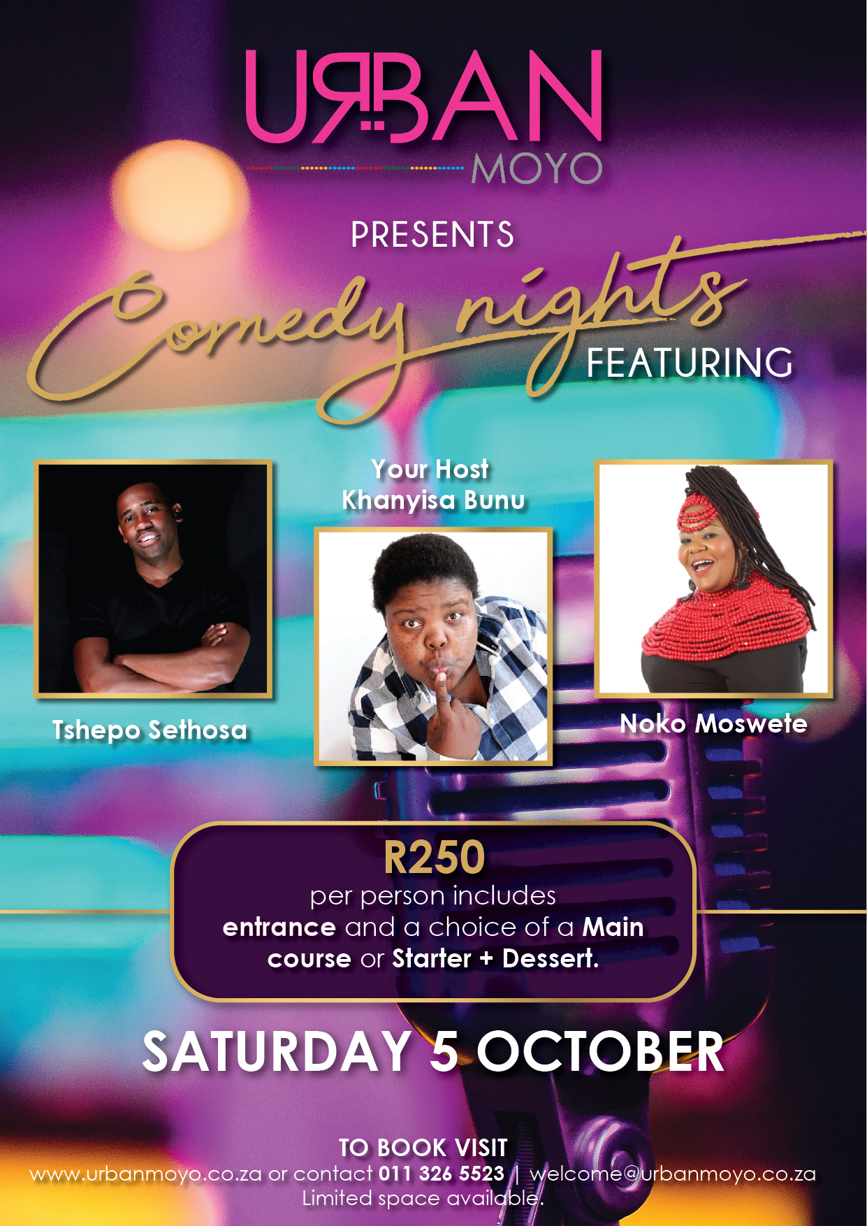 Comedy Nights • Saturday 5 October 2019